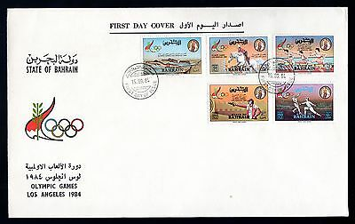 Bahrain 1984 FDC Los Angeles Olympic Games - Set of 5