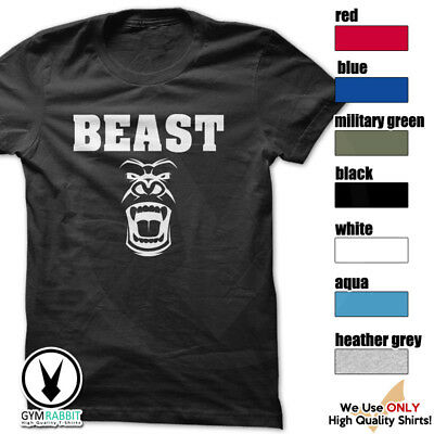 BEAST Gorilla Mode Shirt Workout Gym BodyBuilding Weight Lifting MMA c93 Art-15