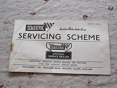 Scalextric 7th Edition Servicing Scheme Booklet, Very Rare