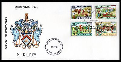 St Kitts 1991 FDC Christmas Issue - 'The Bull' Carnival Play