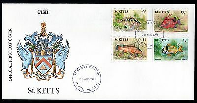 St Kitts 1991 FDC Fishes