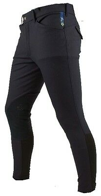 NEW Mens Gents Pessoa by Horseware Breeches - black