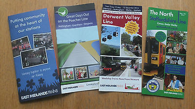 East Midlands Trains 4 x line guide and Community Rail booklets Summer 2015