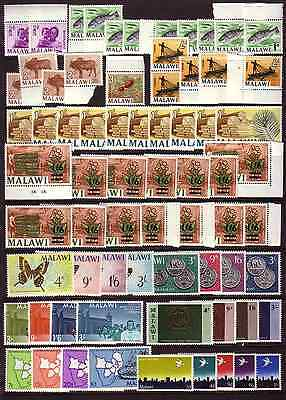 MALAWI 1960s-70s U/M SELECTION OF STAMPS......