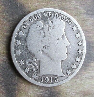 1915 S Barber Half Dol. Good. S Mint 90% Silver Additional coins ship FREE