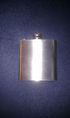 Hip Flask, 6 Oz, Stainless Steel, Brand New.