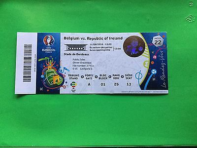 Ticket Belgium - Ireland Uefa Euro 2016 France Match N. 22