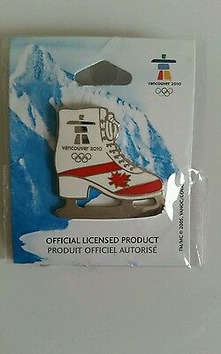 Vancouver 2010 Winter Olympics Ice Skate Pin NEW