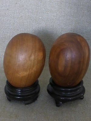 2 Wooden Eggs from Corfu