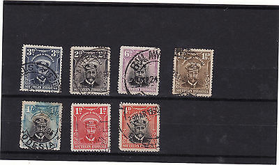 Southern Rhodesia  - 1924-29 7 Used Stamps