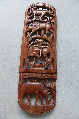Carved Wooden Wall Hanging from South Africa