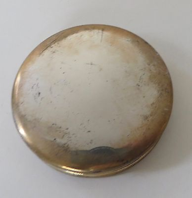 Vintage Sterling Silver Round Pill Box