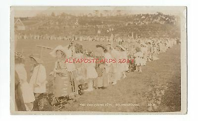 Dorset Bournemouth The Childrens Fete Real Photo Vintage Postcard