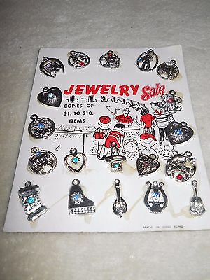 Vintage Vending Machine Display Header Card Toy Jewelry Sale Charms