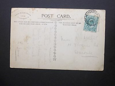 """GB Railway 1904 KEVII 1/2d """"Baby"""" Postcard PENYGROES R.S.O CARNARVONSHIRE s/c"""