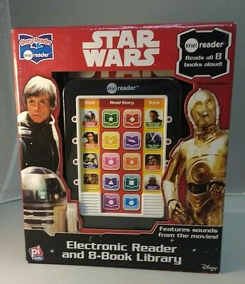 Disney Star Wars Electronic Reader and 8-Book Library With Movie Sounds!!!!