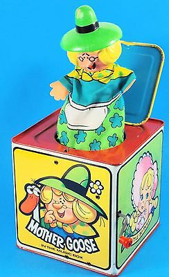 """Vintage 1971 Mattel Jack in the Box """"Mother Goose In The Box""""  Music Box Works!!"""