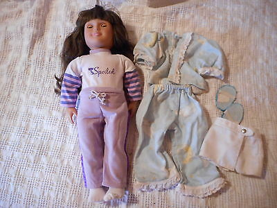 """Battat Our Generation 18"""" Girl Doll With Clothes Brunette Brown Eyes #521"""
