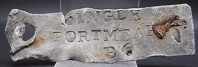 Nice Post Medieval 18Th - 19Th Century Lead Sign, British Found.