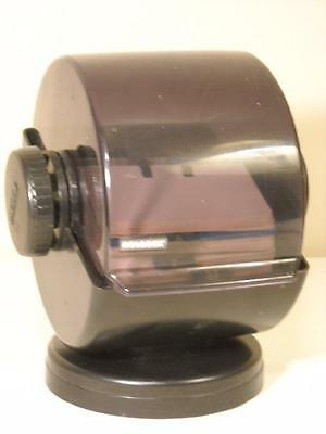 VINTAGE ROLODEX MODEL NSW-24C SWIVEL BASE w/ CARDS AND DIVIDERS BLACK