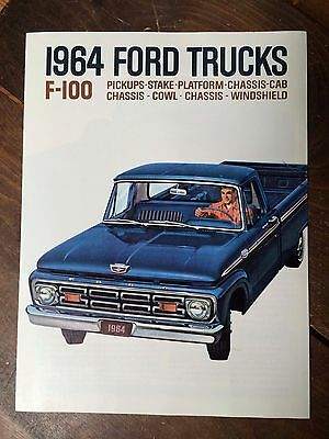 1964 Ford Truck F-100 Pickup Foldout Sales Brochure