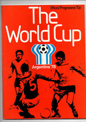 World Cup Programme 1978 Mint Condition