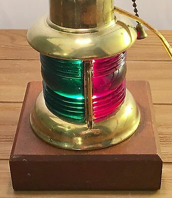 Vintage Brass Maritime Nautical Mast Boat Ship Light Lamp Port Green Red