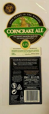 Scotland,Orkney Brewery Corncrake Ale beer label
