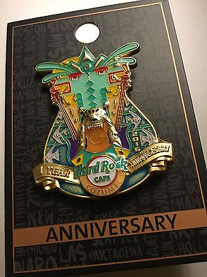 Hard Rock Cafe COZUMEL Pin 1 Year ANNIVERSARY mexico no bottle opener magnet usa