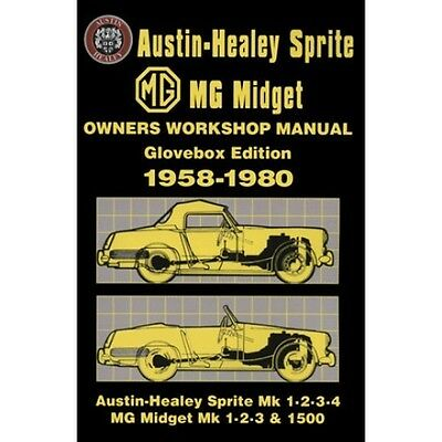 MG Midget Sprite Owners Workshop Manual 1958-1980 book paper