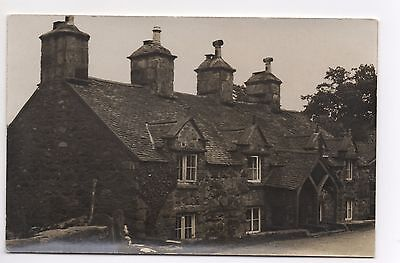 RP Unknown Stone Medieval Tudor Cottage Large Chimneys Wood Arch Porch Where ?