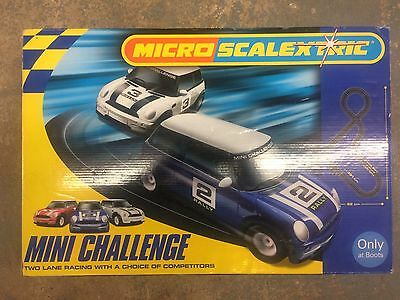 Micro Scalextric Mini Challenge Set.  3 Cars Included