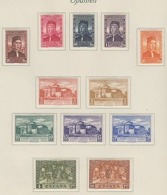 Spain Mint Superb Collection Of Sets 1928-36 On Pages With £650 Catalogue Value