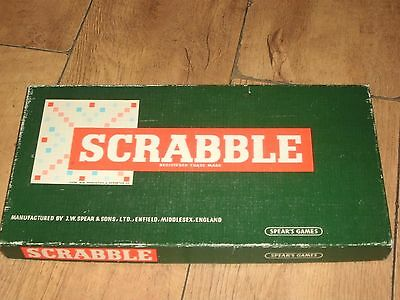Vintage Boxed Scrabble Boardgame Dated 1954