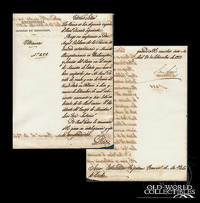 1853 ~ Appointment of Spanish Minister of State to Washington United States ~ 2p
