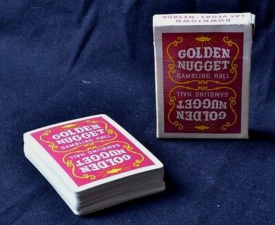 RARE VINTAGE GOLDEN NUGGET GAMBLING HALL Red DECK PLAYING CARDS USED