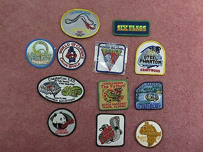 12 Roller Coaster/Amusement Park embroidered patches (many are classics)