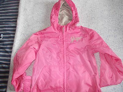 Girls Hooded Rain Jacket From Gap Age 10-11 In Excellent Condition