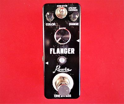 Rowin Let-312 Mini Flanger Effect Pedal With True By-Pass
