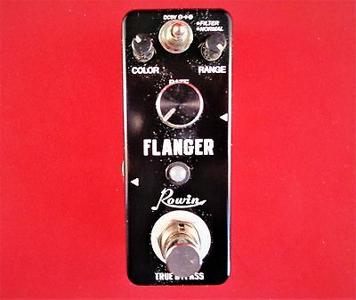 Rowin Let-612 Mini Flanger Effect Pedal With True By-Pass