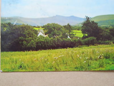 The Beacons from Merthyr Road, Brecon, Postcard 1977