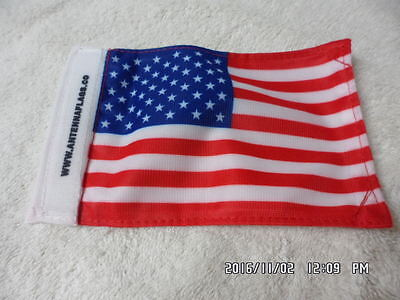 """Antenna Flag United States 6"""" X 4"""" Two Flags Stitched Together Velcro Closure"""