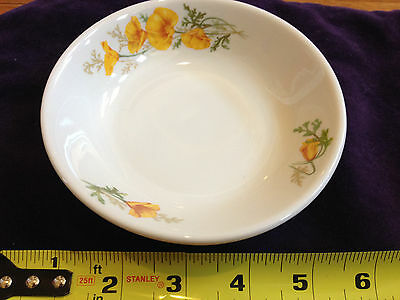 VTG 1970 Dining Car CHINA-Fred Harvey ATSF Railroad CALIFORNIA POPPY-Fruit Bowl
