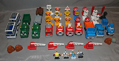 Fisher Price Geotrax Lot Accessories People Signs Push Trucks Trains 46 Piece