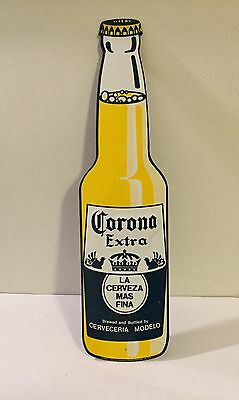 Corona Extra Beer Bottle Cerveza metal tin advertising sign Display Mexican Nice