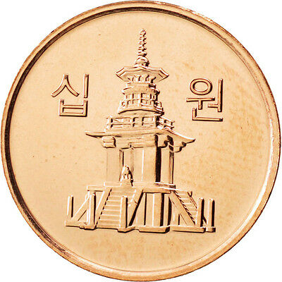 [#88206] KOREA-SOUTH, 10 Won, 2011, KOMSCO, KM #103, MS(63), Copper Clad