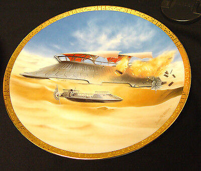 Star Wars Vehicles Plate Collection/ Jabba's Sail Barge Limited Edition @