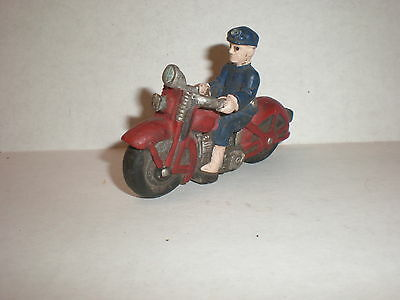 Vintage Rare Hand Made Aluminum Folk Art Police Motorcycle With Police Man.