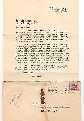 (3) 1934-1943 Aggie Bonney Youngblood Letters to Texas A&M Prof. Samuel Asbury