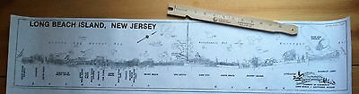 Vintage Map Of Long Beach Island Nj Chamber Map Paper Copy Suitable For Framing